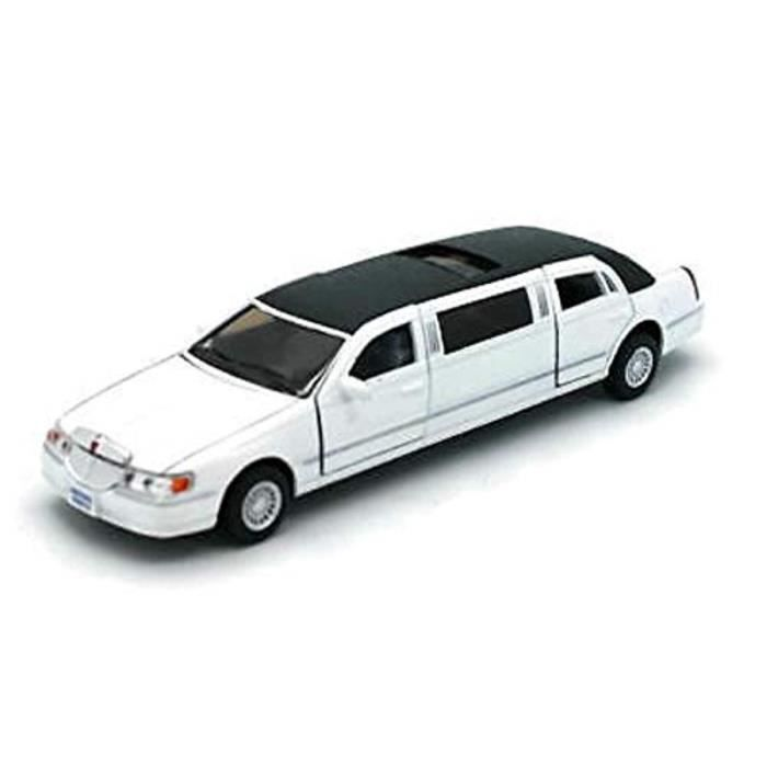 Voiture Electrique X6BWP 1-38 Scale Diecast 1999 Lincoln Town Car Stretch Limousine in Color White