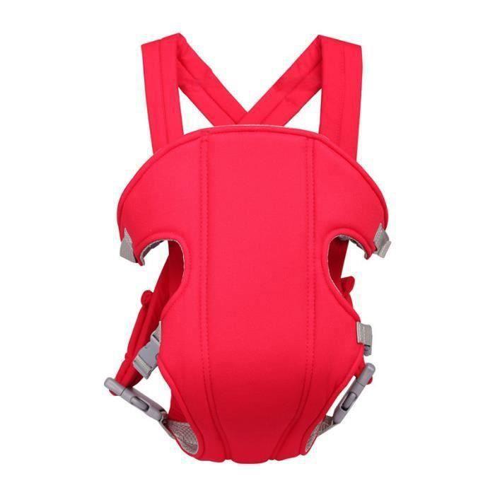 Porte bébé 0-12 mois mode Quatre saisons rouge Multifonction Simplicité Confort et sécurité Économie du travail Porte bébé