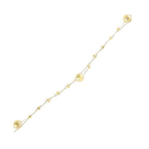 Guirlande perle or