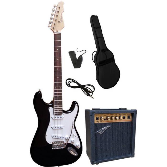Set guitare électrique Vision Guitar VG 15 avec étui, avec amplificateur