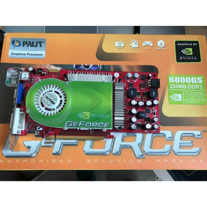 GEFORCE NVIDIA 6800 GS 256MB/DDR3