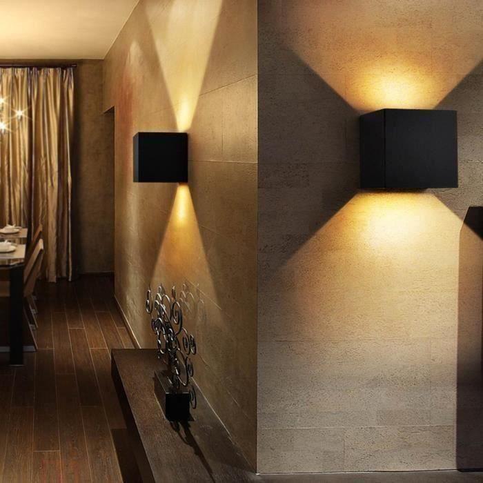 étanche 7W Aluminium cube COB LED murale Intérieur extérieur lampe de mur pour Chambre hôtel paysage jardin AC 220V IP6