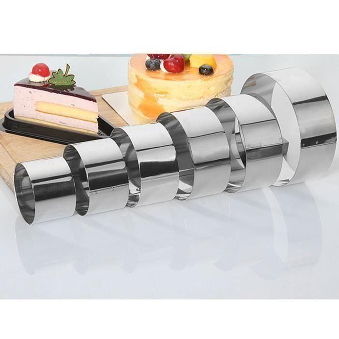 EOZY 6 Pièces Moule à Gâteau Mousse Pâtisserie Ustensile de Cuisine en Acier Inoxydabl Ma07942