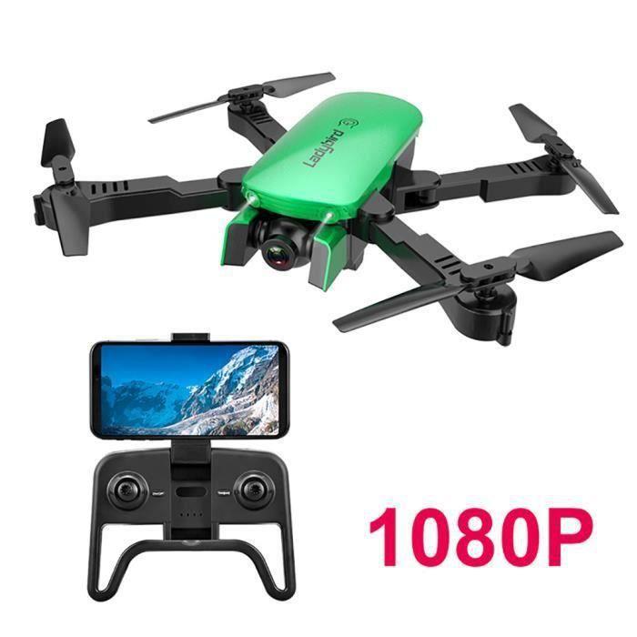 2.4GHz 4CH Attitude Tenir 1080P WIFI flux optique double caméra RC Quadcopter Drone jouets 4130