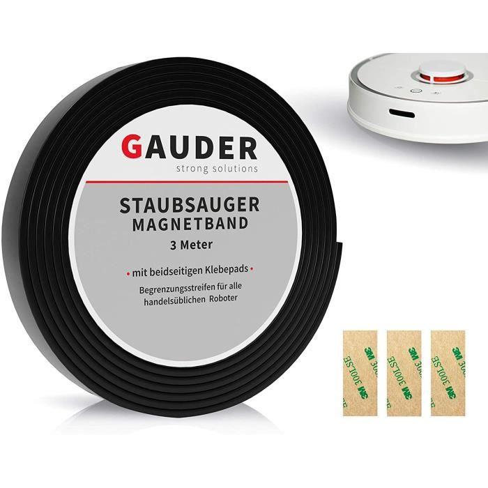 GAUDER Bordure Magnétique Aspirateur Nouvelle Version - Bande Magnétique Aspirateur Robot pour Neato, Proscenic, Xiaomi, Tesvor et V