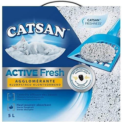 CATSAN - Litière Active Fresh pour Chat 5L - Lot De 2 - Livraison Gratuite