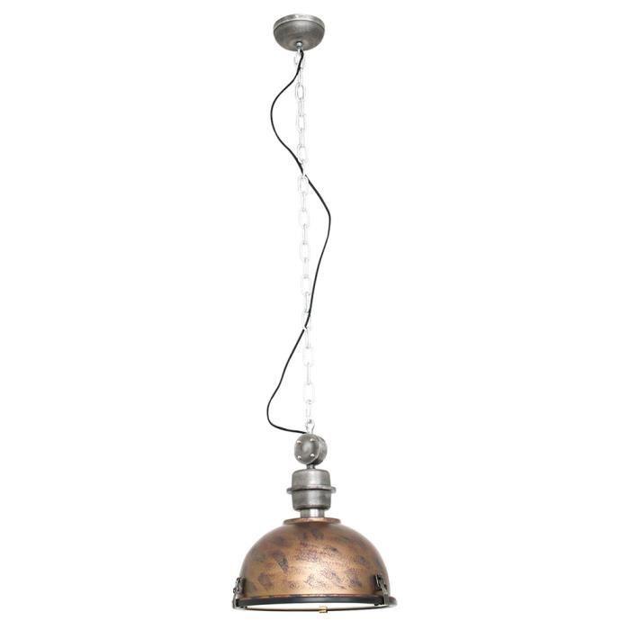 Lampe à suspension rétro au look industriel, marron, BIKKEL XXL
