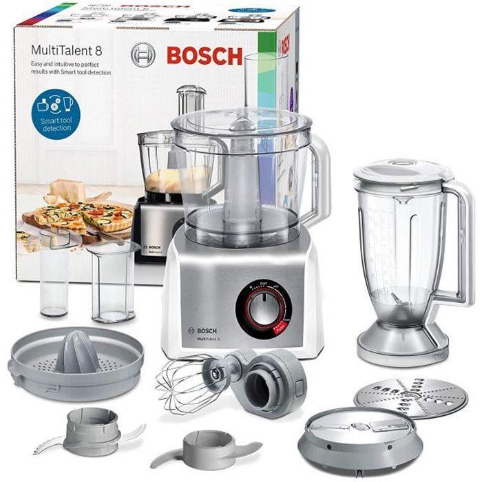Bosch mc812s820 multitalent 8 - processeur d'aliments 1.250 W 3.9 litres de capacité multi-accesorios Blanc et Acier inoxydable