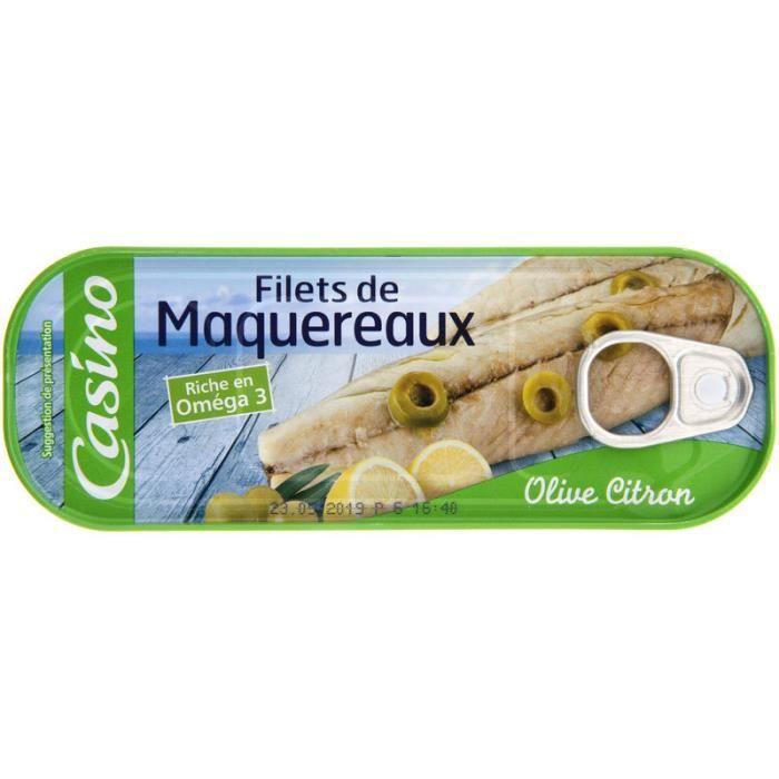 Maquereaux olive citron - 176g