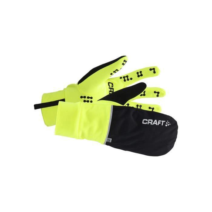 Gants de running Craft hybrid - jaune-noir - M