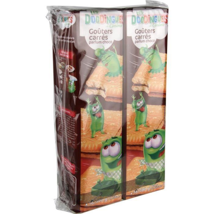 Gouters Lot de 2 carrés choco - Fourré chocolat - 300g