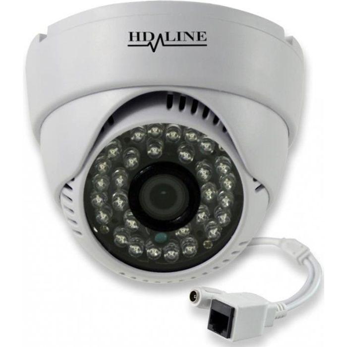 Caméra IP Dôme Vidéosurveillance 720P 24 LED IR CUTCOULEUR