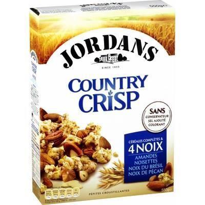 JORDANS Céréales complètes Country Crisp - 4 noix - 550 g