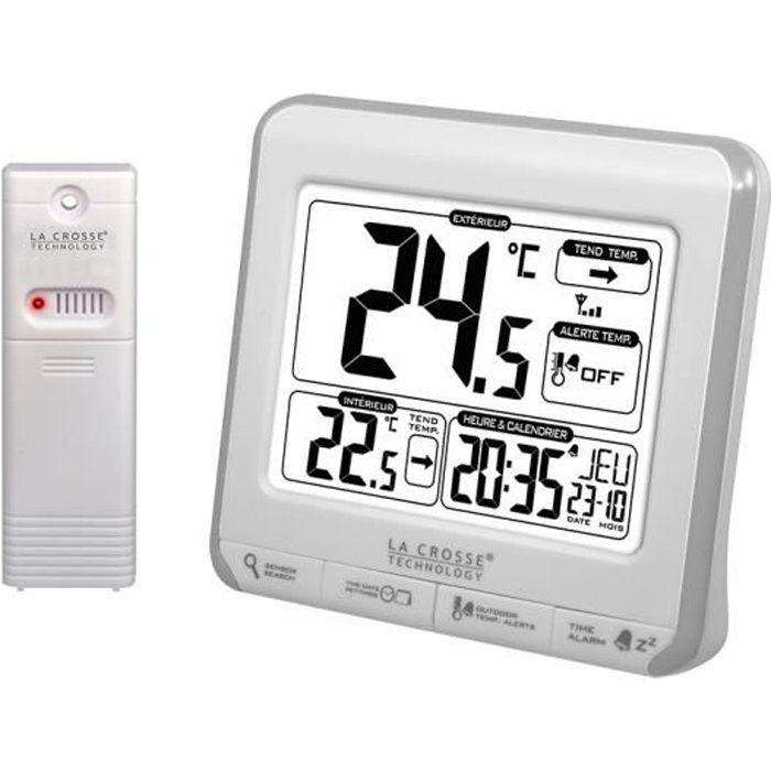 La Crosse Technology WS6811WHI-SIL Station de températures