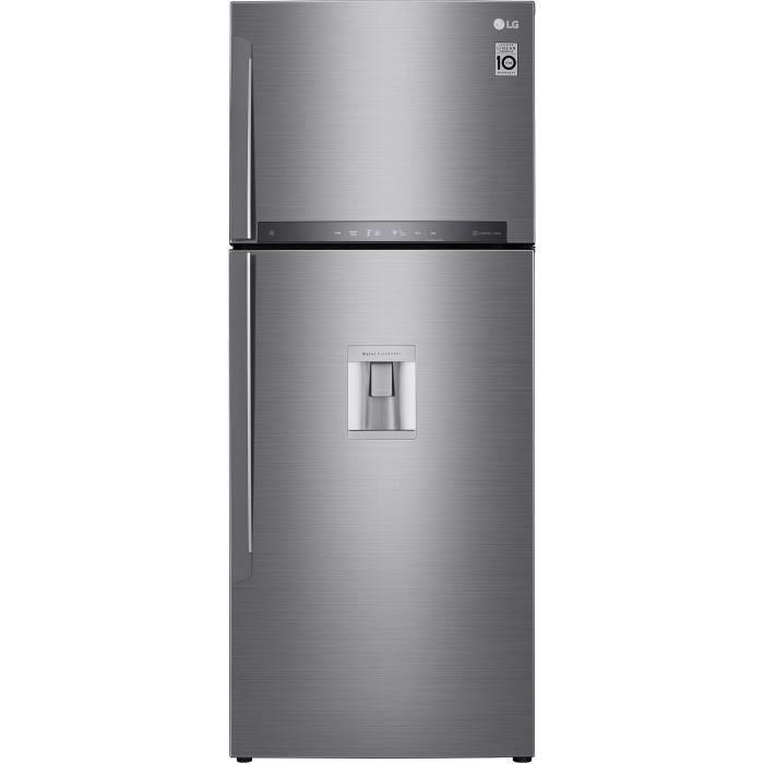 LG GTF7043PS - Réfrigérateur congélateur haut - 438L (321+117) - Froid ventilé A++ - L70m x H178cm - Inox