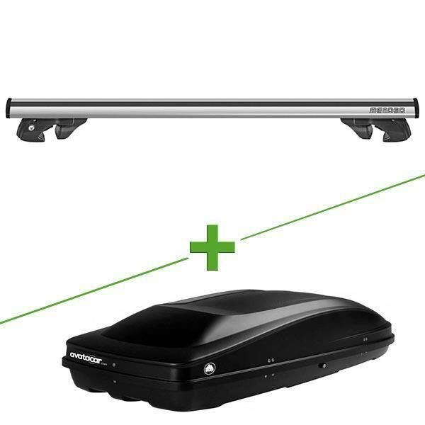Pack barres et coffre de toit MBO Jackson XL + Wabb L pour Renault Scenic III - Phase 2 et 3 5 portes - 3665597011357