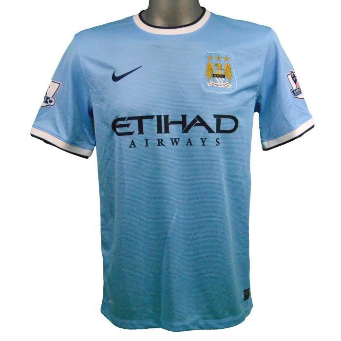 Maillot domicile Manchester City 2013/2014 Agüero