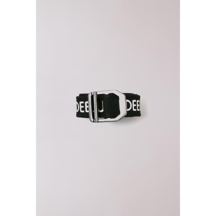 DEELUXE Ceinture noire avec logo blanc COVEN Black