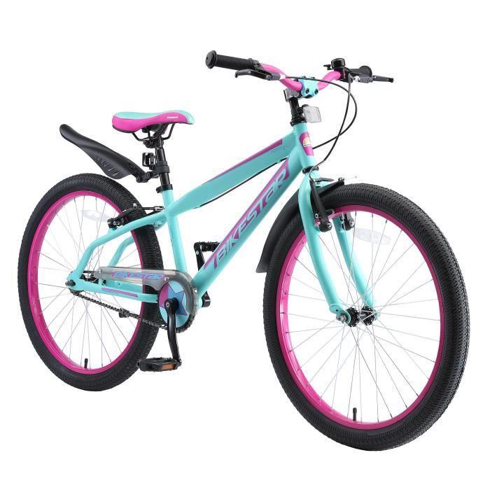 BIKESTAR - Vélo enfant - 24 pouces - pour garçons et filles de 10-13 ans - Edition VTT - Turquoise Berry