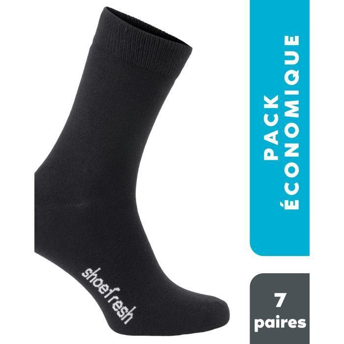 Shoefresh chaussettes bambou - 7 paires - Chaussettes anti-transpiration - Antibactérien - Super absorbant - Doux et confortable