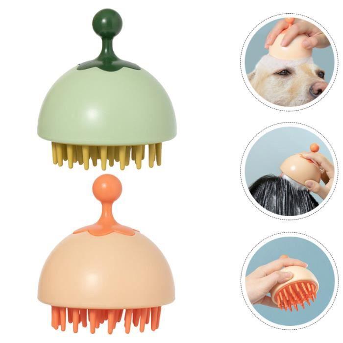 2pcs Safe Creative Coiffure Nettoyant Brosses de brosses les peignes brosse manuelle - peigne capillaire