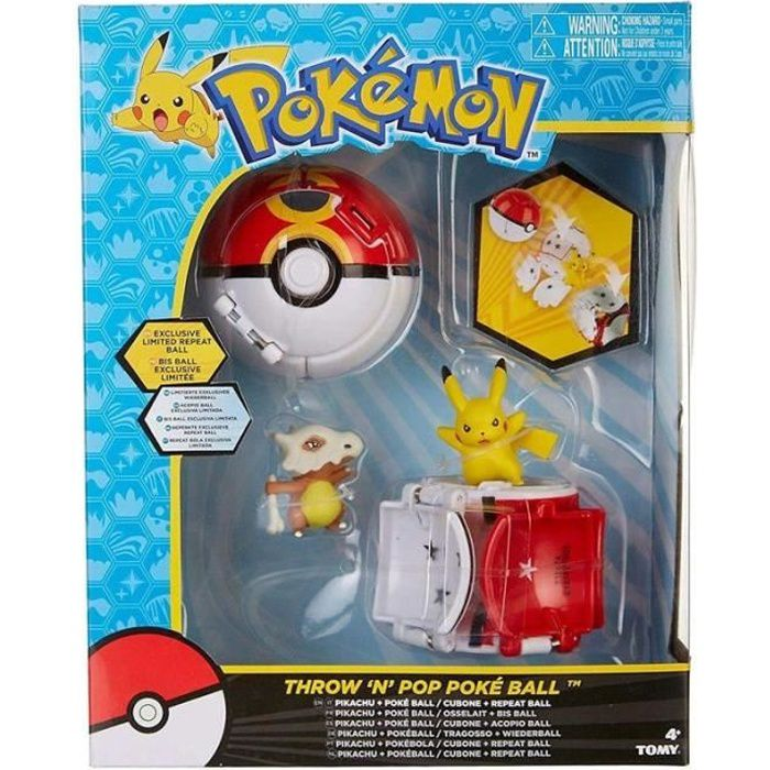 Coffret duo throw pop poke ball