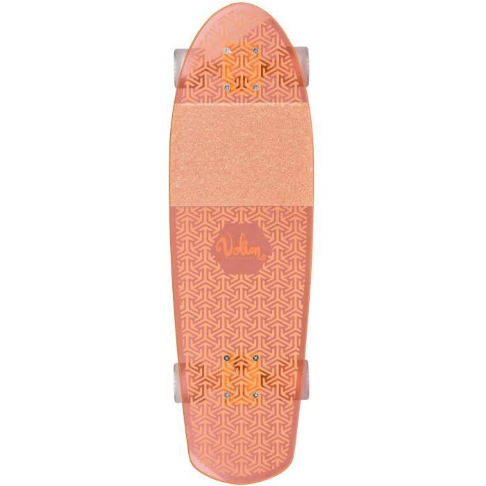 Volten longboard Neon ClearOrange 68,5 cm acrylique orange