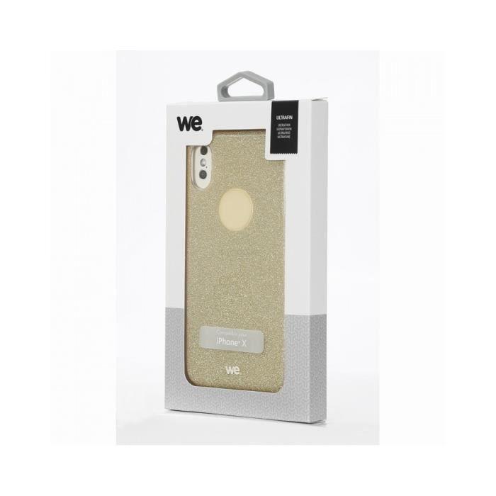 Coque de protection paillettes We pour IPhone X/Xs Or