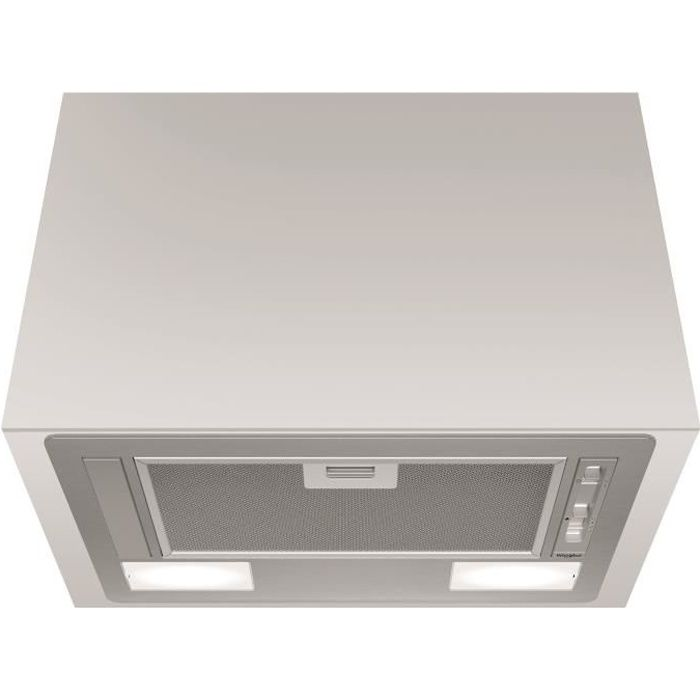 WHIRLPOOL WCT64FLSX Hotte intégrée - 332 m3 air / h max - 64 dB max - 3 vitesses - L 53 cm - Inox