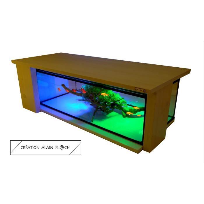 Table Basse Aquarium Terrarium Palace 20 Led Design Unique Alain