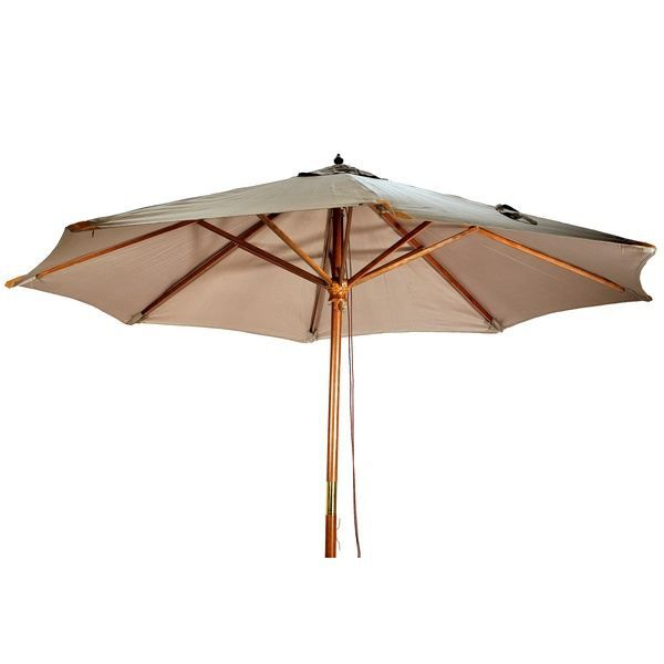 parasol en bois 3m taupe achat vente parasol parasol. Black Bedroom Furniture Sets. Home Design Ideas