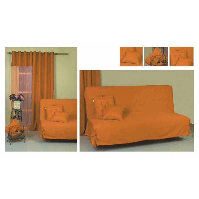 Housse de clic clac orange achat vente housse de for Housse clic clac orange