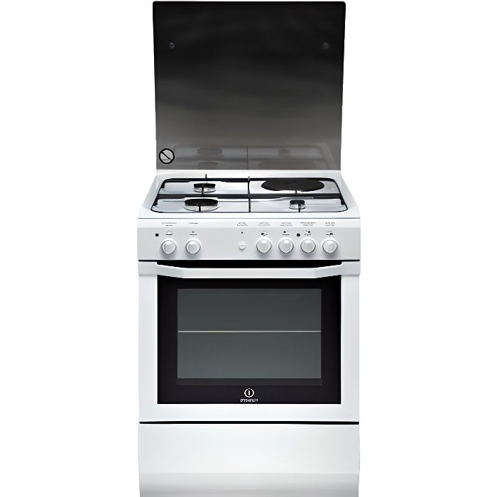 Photo de cuisiniere-mixte-indesit-i6m6cagw-fr