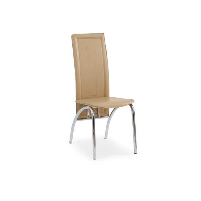 Justhome chaise salle manger k75 brun clair h x l x p for Chaise de salle a manger brun