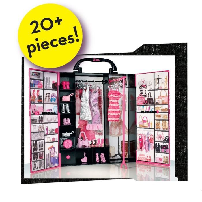 barbie fashionistas dressing de r ve achat vente accessoire poup e les soldes sur. Black Bedroom Furniture Sets. Home Design Ideas