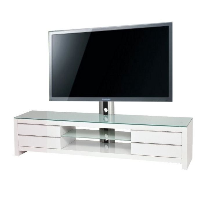 meuble tv design blanc prm 200h sww 32 60 pouces achat vente meuble tv meuble tv design. Black Bedroom Furniture Sets. Home Design Ideas