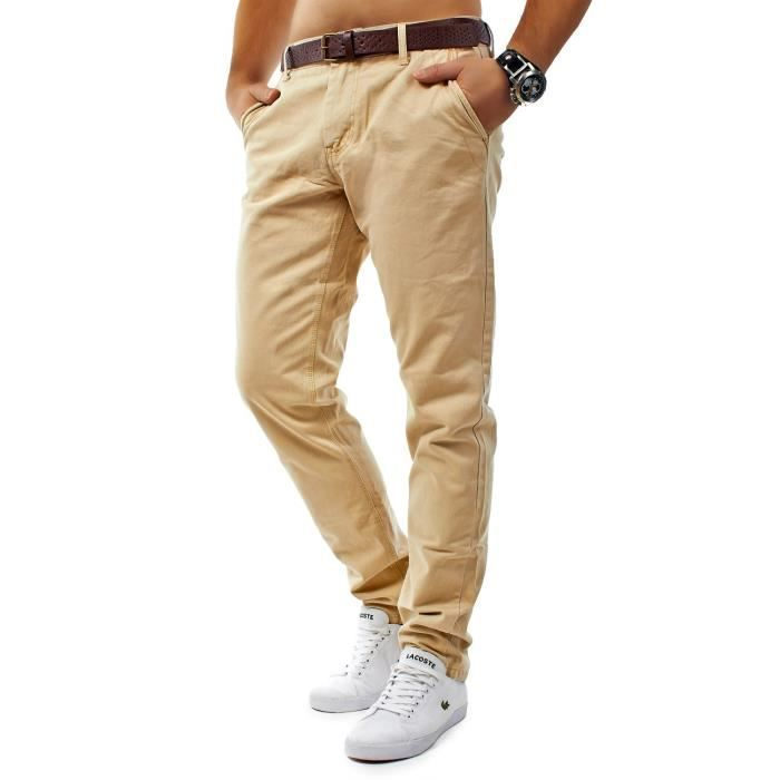 pantalon homme chino chino0416 beige beige achat vente pantalon cdiscount. Black Bedroom Furniture Sets. Home Design Ideas