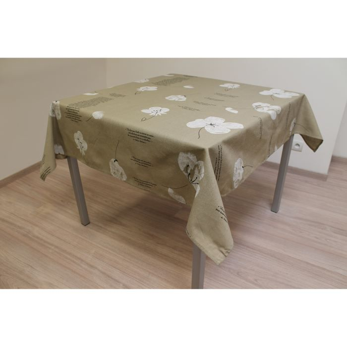 soleil d 39 ocre nappe carr e 145x145cm shakespeare achat vente nappe de table cdiscount. Black Bedroom Furniture Sets. Home Design Ideas