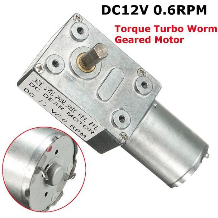 GW370 Dc 30rpm r/éversible /à couple /élev/é Turbo Worm vitesse moteur /à courant continu de R/éducteur