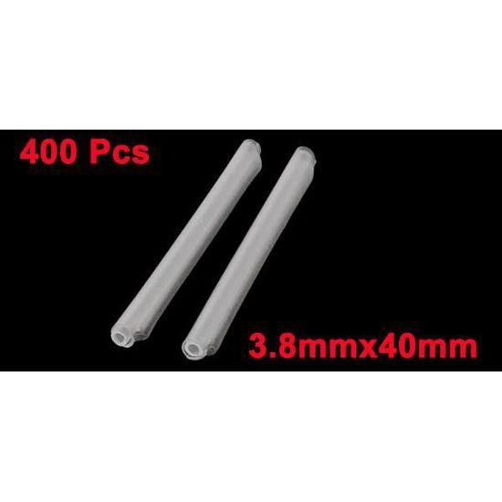 sourcingmap/® 400 Pcs gaine protection tube raccord Fibre Optique tuyau thermor/étractable 5.5cm