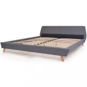 LIT COMPLET Lits et cadres de lit vidaXL Cadre de lit avec som