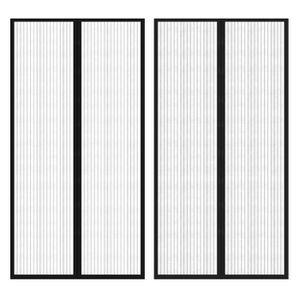 MOUSTIQUAIRE DE LIT Rideau de porte avec bande velcro 210 x 100 cm 2 p