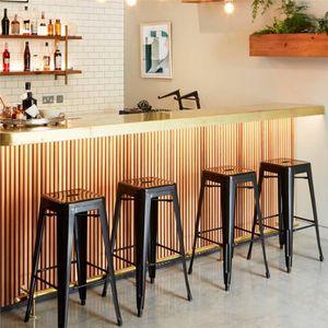 TABOURET DE BAR 4 Tabourets de Bar Tabouret Haut Industriel Empila