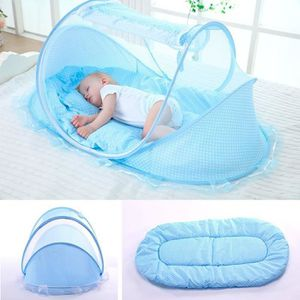 MOUSTIQUAIRE LIT BÉBÉ Bleu bébé lit pliant tente moustique Voyage mousti