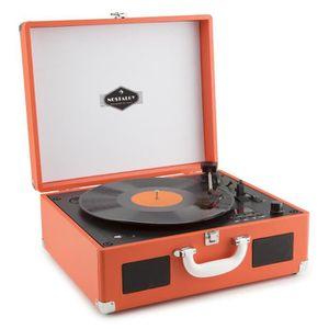 PLATINE VINYLE auna Peggy Sue Platine vinyle rétro & lecteur CD p