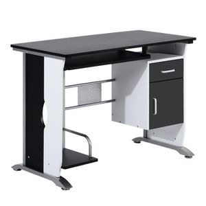 MEUBLE INFORMATIQUE Bureau informatique design en mdf 100 l x 52 i x 4