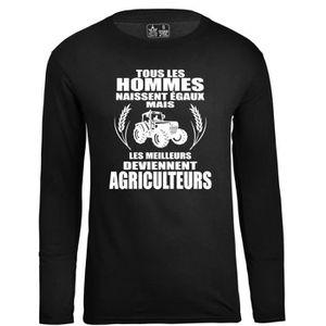 T-SHIRT Tee Shirt Humour Homme Geek Agriculteur Casual Hau
