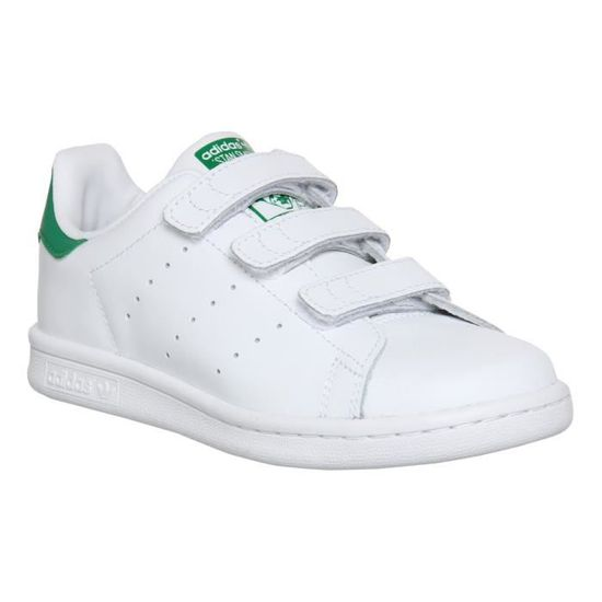 Adidas stan smith à scratch taille 40 2/3 blanc vert BLANC ...