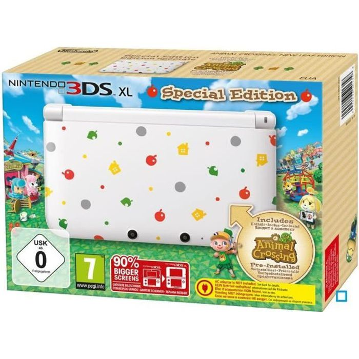 console 3ds xl collector animal crossing new leaf achat. Black Bedroom Furniture Sets. Home Design Ideas