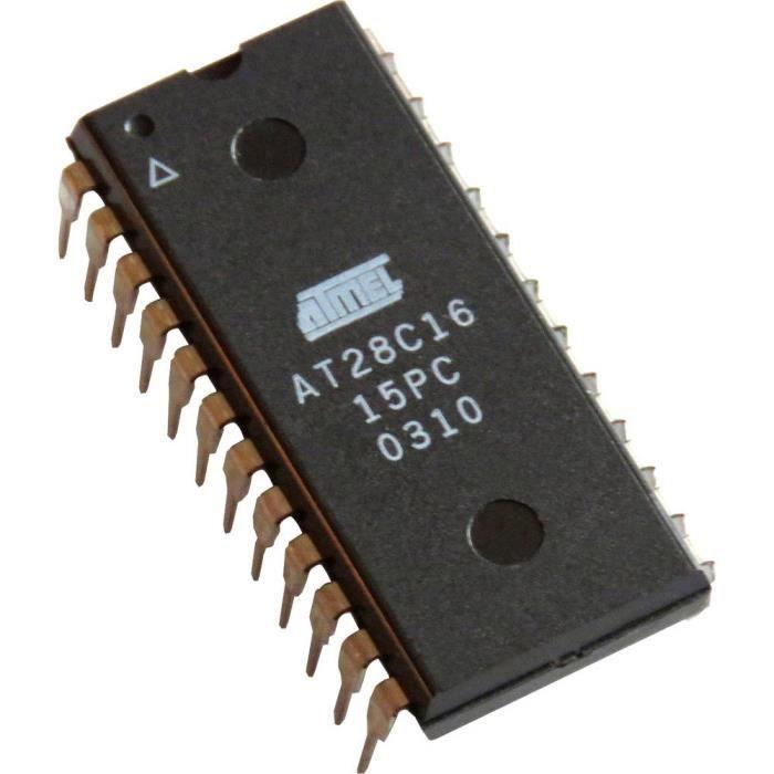CI Mémoire Atmel AT28C16-DIP24 DIP-24 EEPROM 16 ko 2 K x 8 1 pc(s)